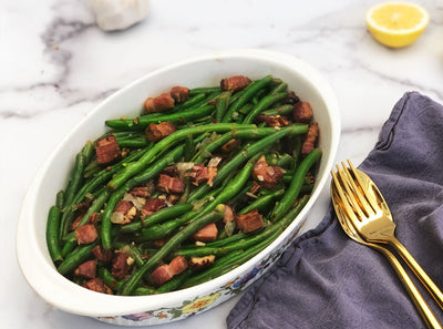 Green Beans with Smoked Lardons