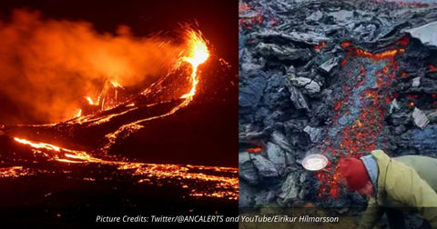 Iceland Man Cooks Bacon & Eggs On Volcano's Hot Molten Lava March 2021