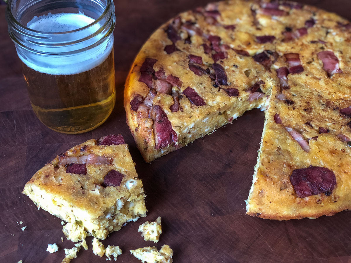 Cornbread with bacon lardons