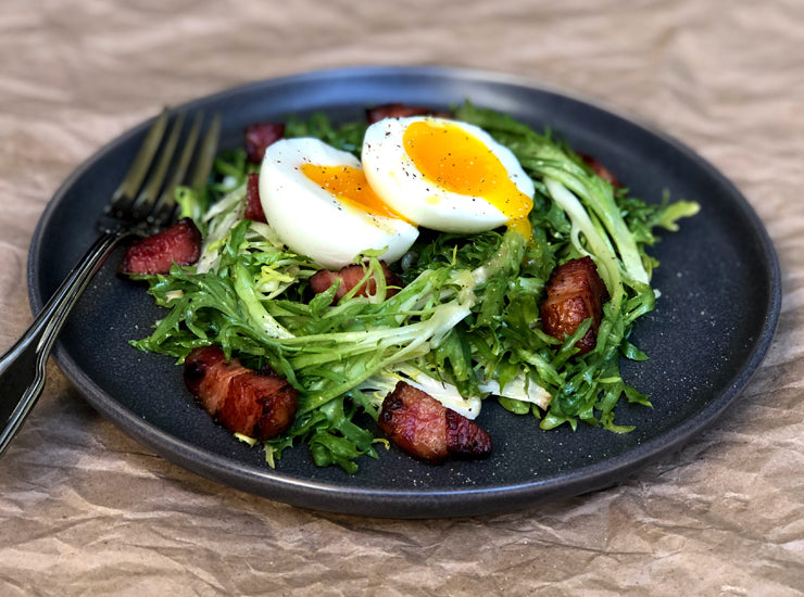 Salad with bacon lardons