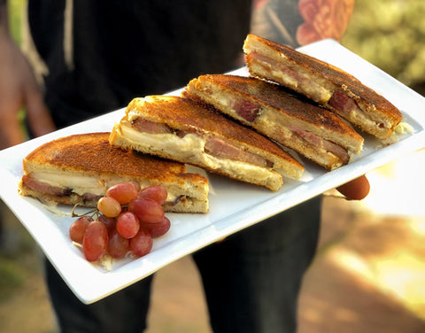 grilled cheese, bacon, fig jam