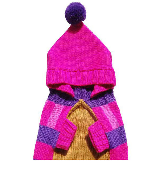 pink pompom dog apparel