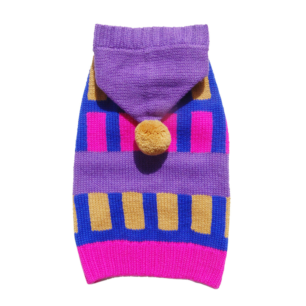 color-up knitted pompom dog sweater