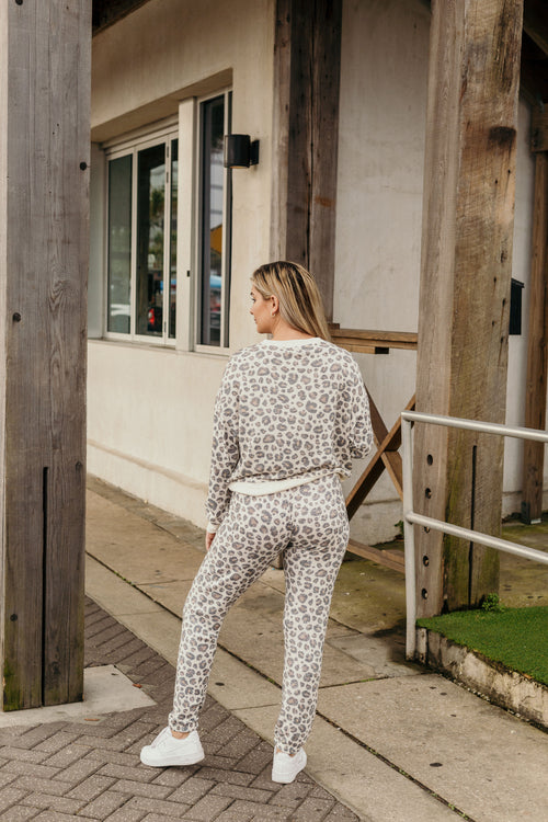 Ava Z Supply Brushed Slub Leopard Jogger