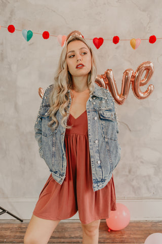 Forever Single Denim Zip Up Dress