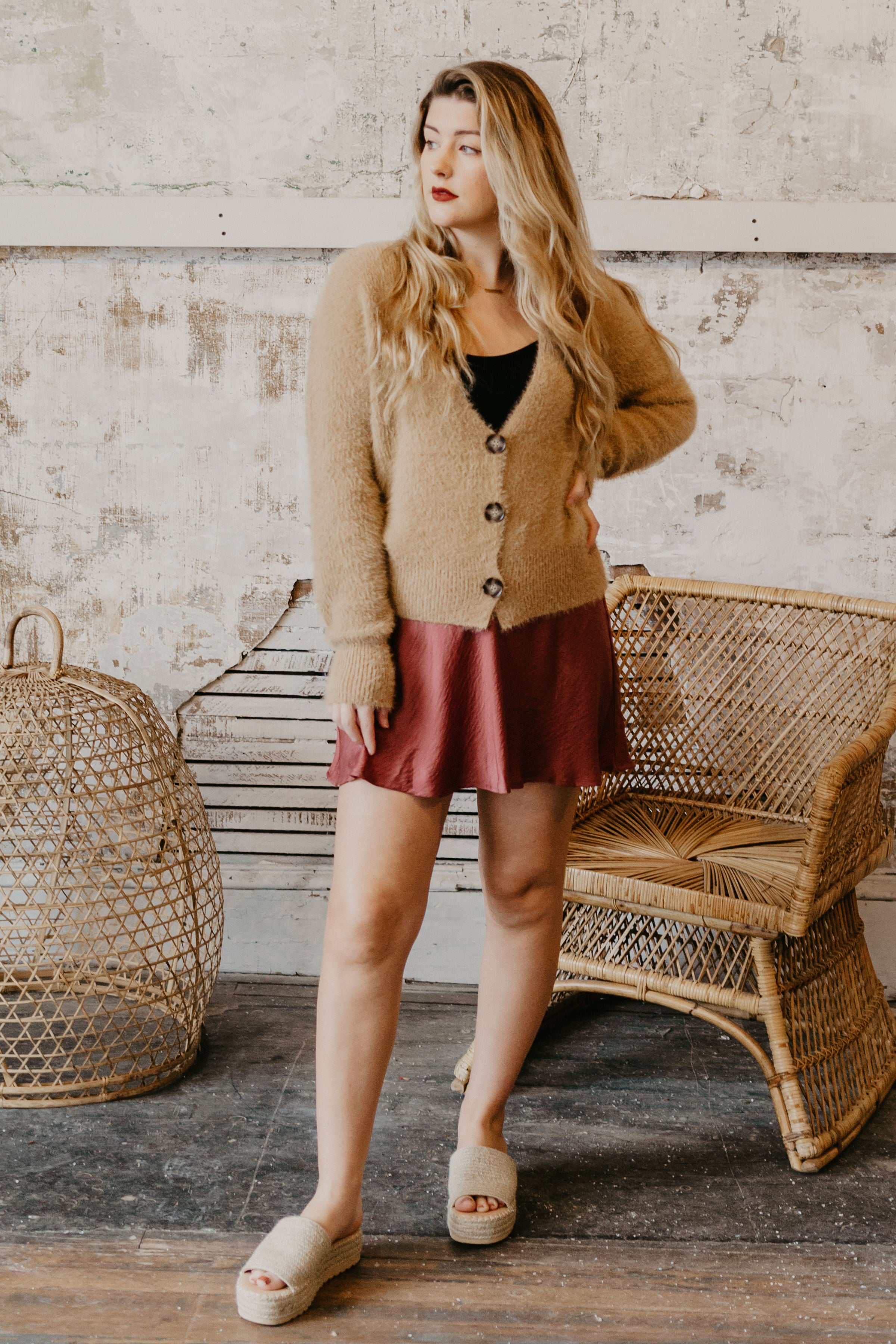 Cozy Button Up Cardigan - Parkside Harbor