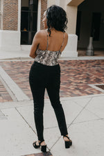 Over It Snake Print Bodysuit - Parkside Harbor