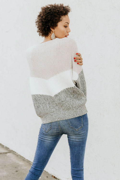 This Is It Colorblocked Sweater - Parkside Harbor