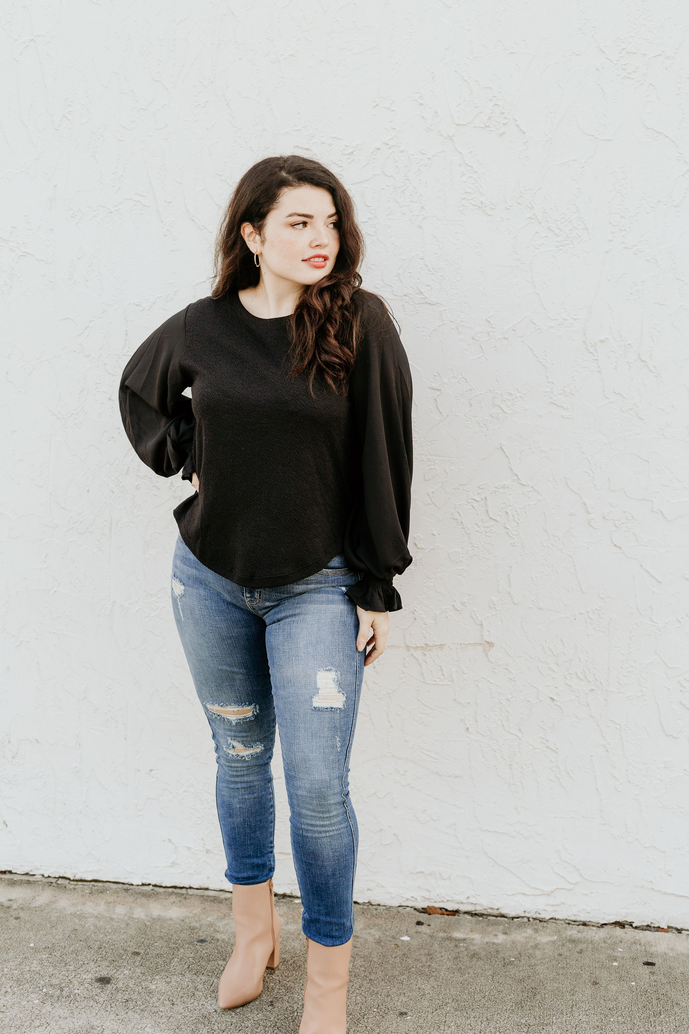 Into The Night Long Sleeve Blouse - Parkside Harbor
