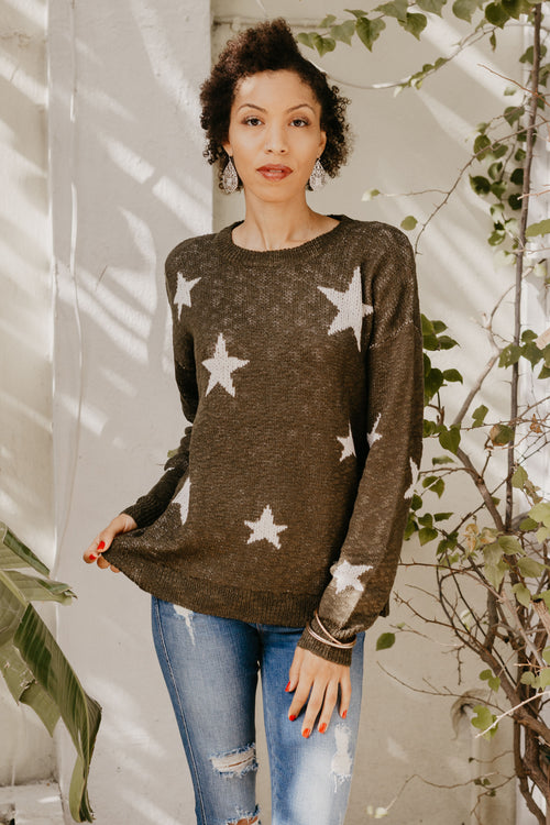 Dare To Dream Star Sweater - Parkside Harbor
