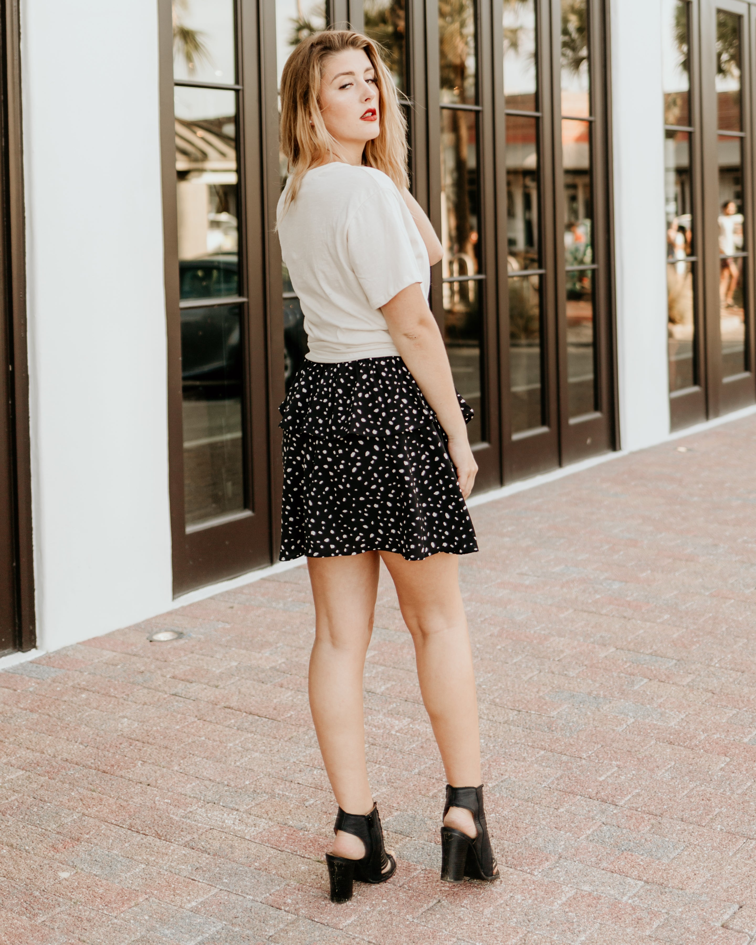 Knock Out Ruffle Mini Skirt - Parkside Harbor