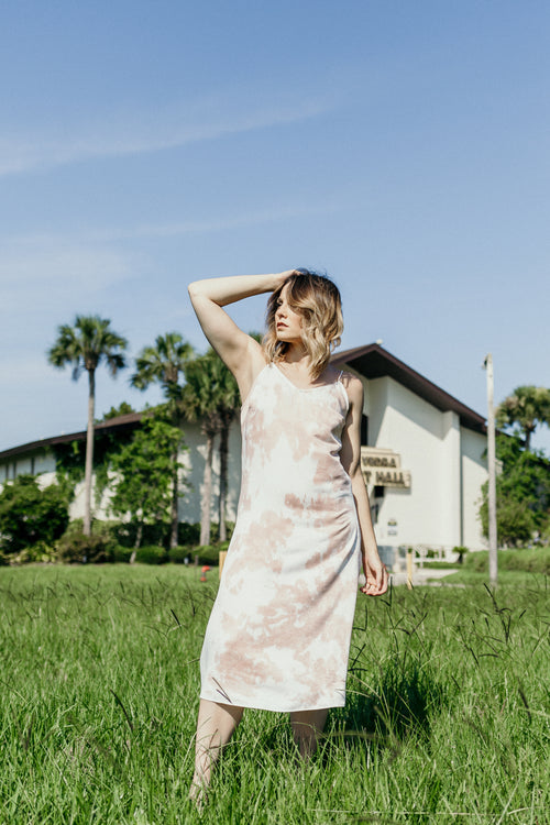 Sweet Dreams Midi Tie Dye Dress - Parkside Harbor
