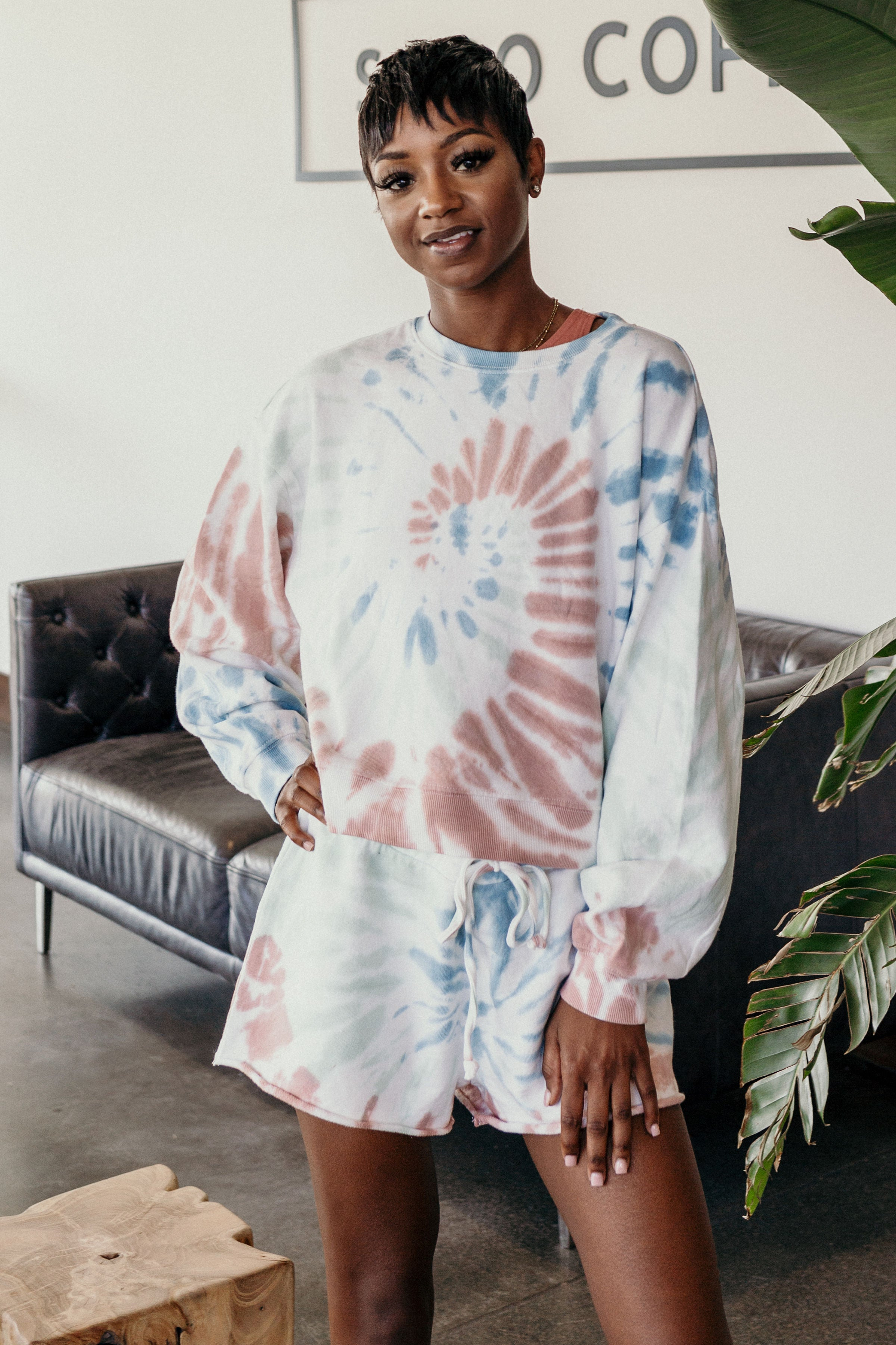All Day Tie Dye Z Supply Pullover - Parkside Harbor