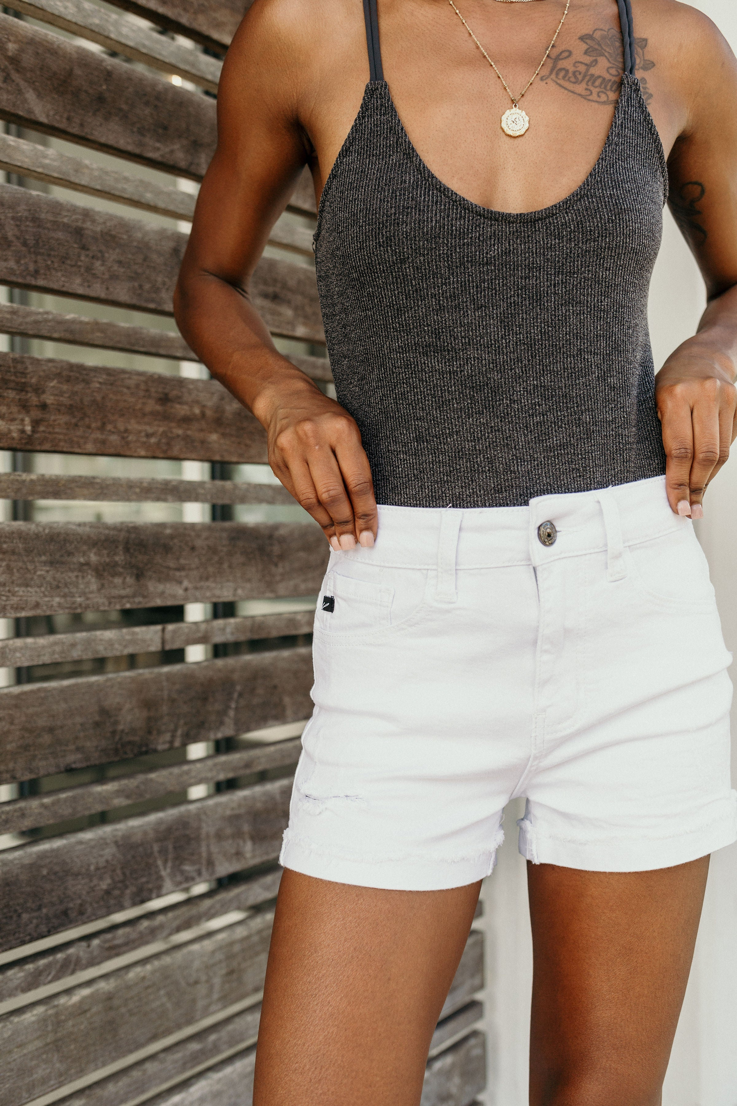 White Sand Beaches Denim Short - Parkside Harbor