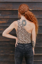 Roar One Shoulder Cheetah Bodysuit - Parkside Harbor