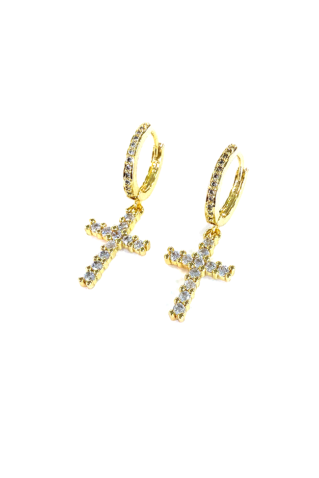 Everly Cross Earrings