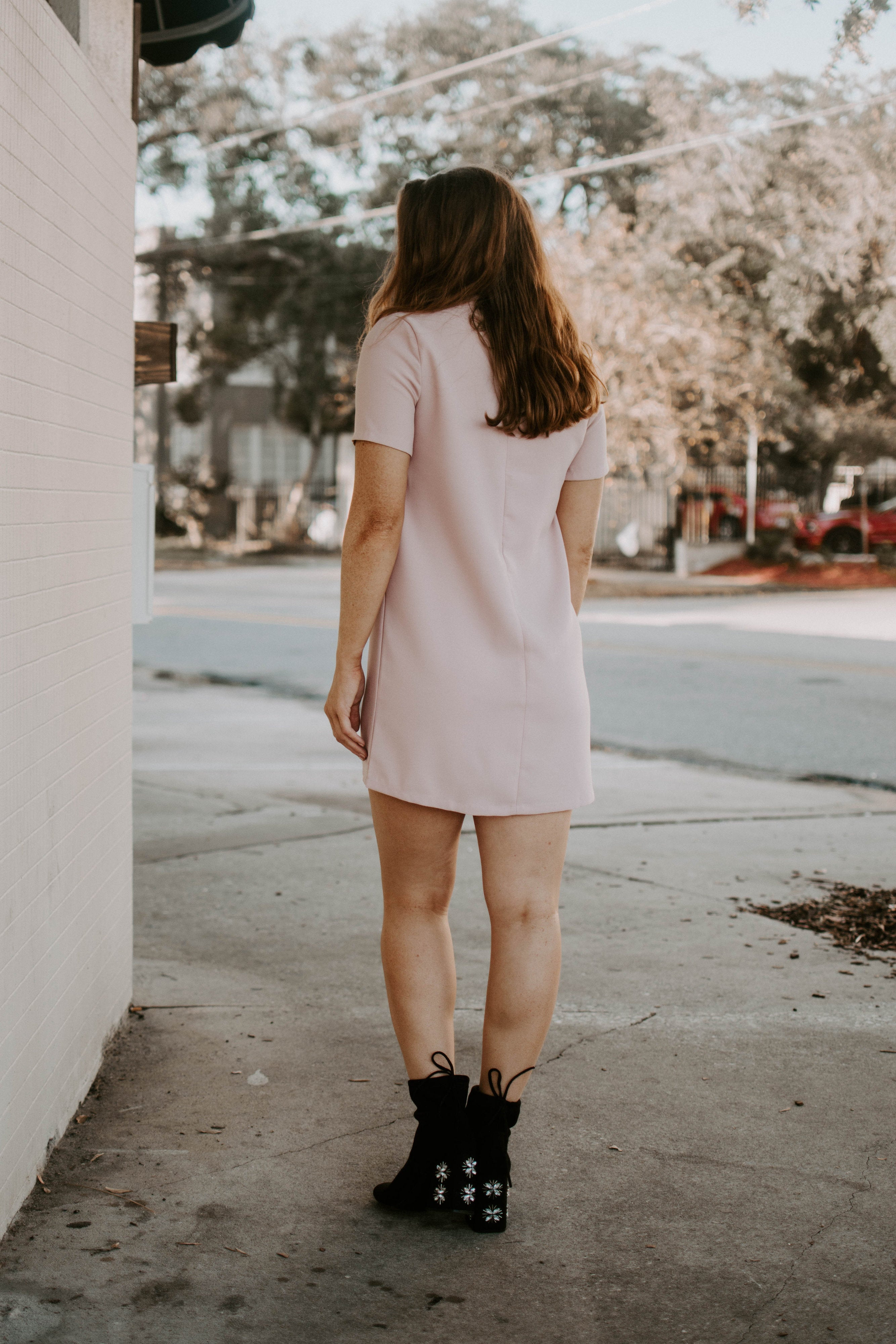 Pink Say It Ain't So Choker Dress - Parkside Harbor