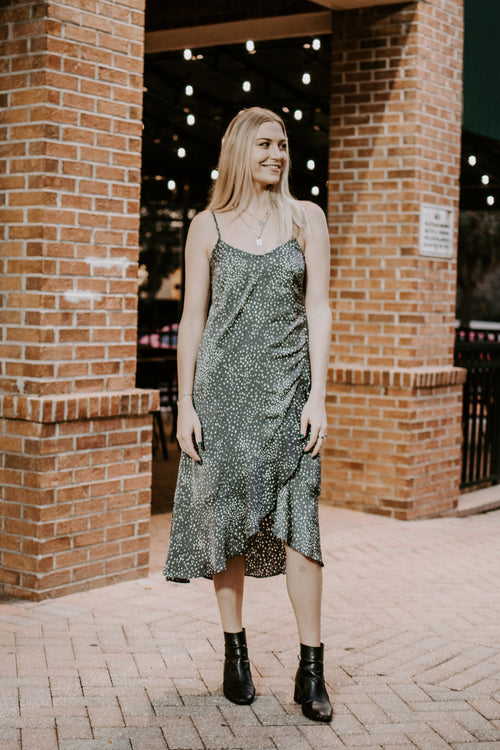 Starry Night Ruffle Midi Dress - Parkside Harbor