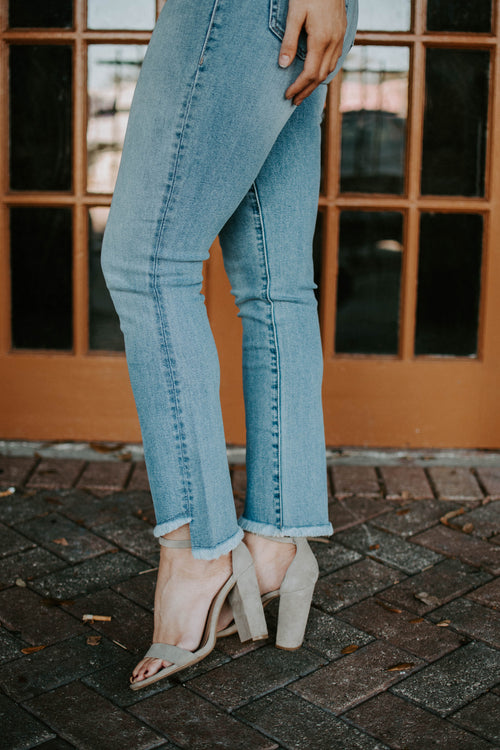 Level 99 Adrian High Rise Kick Flare Jeans - Parkside Harbor