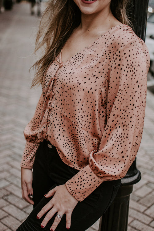 The Little Things Button Down Blouse - Parkside Harbor