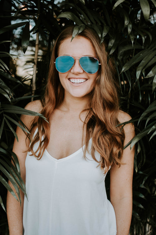 Blue Mango Large Aviator Sunglasses - Parkside Harbor