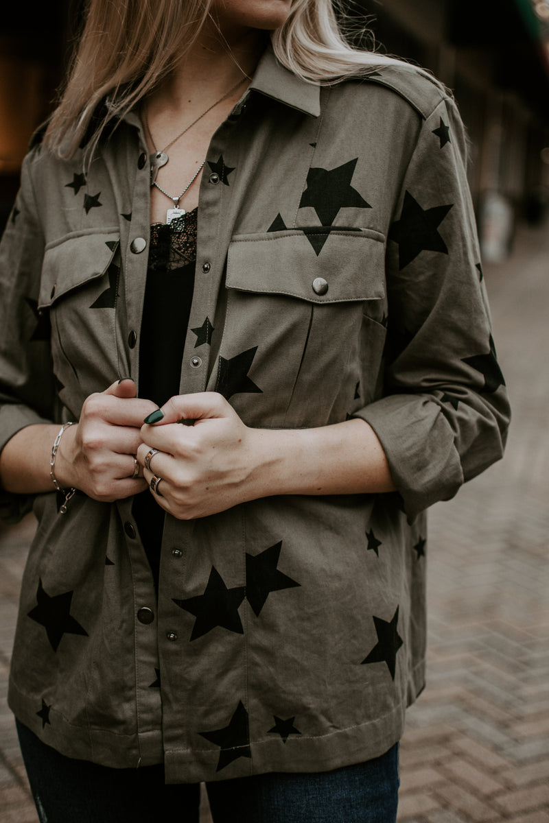 Rebel Star Utility Button Up - Parkside Harbor