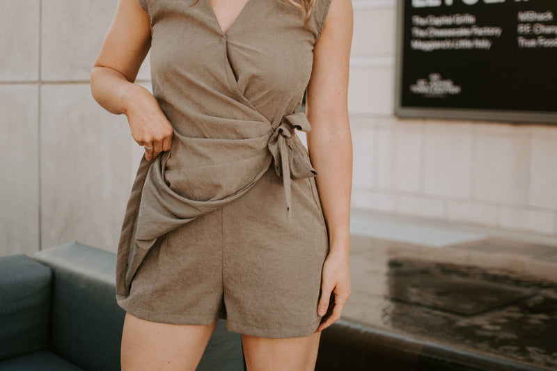 Late Night Wrap Romper - Parkside Harbor
