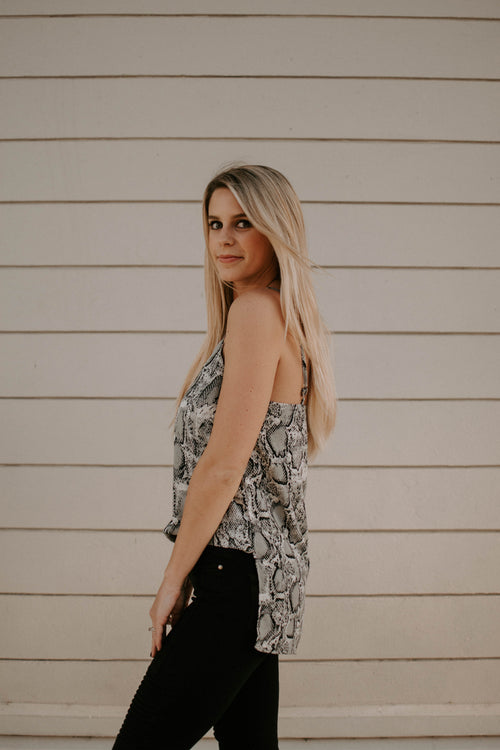 Next Level Snake Print Tank Top - Parkside Harbor