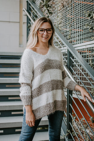 Gray Welcome to the Weekend Sweater