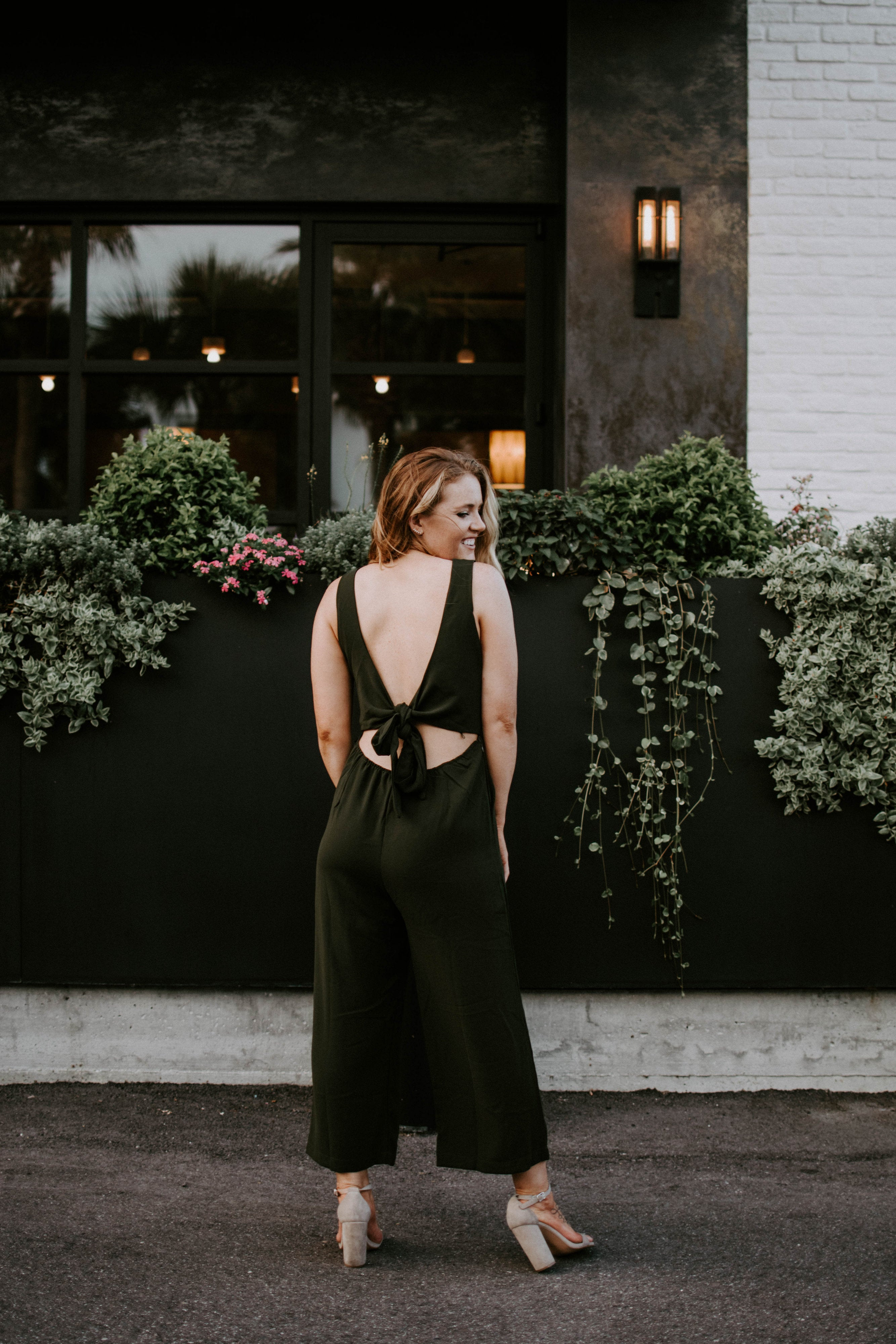 Day Dreamin' Tie Back Jumpsuit - Parkside Harbor