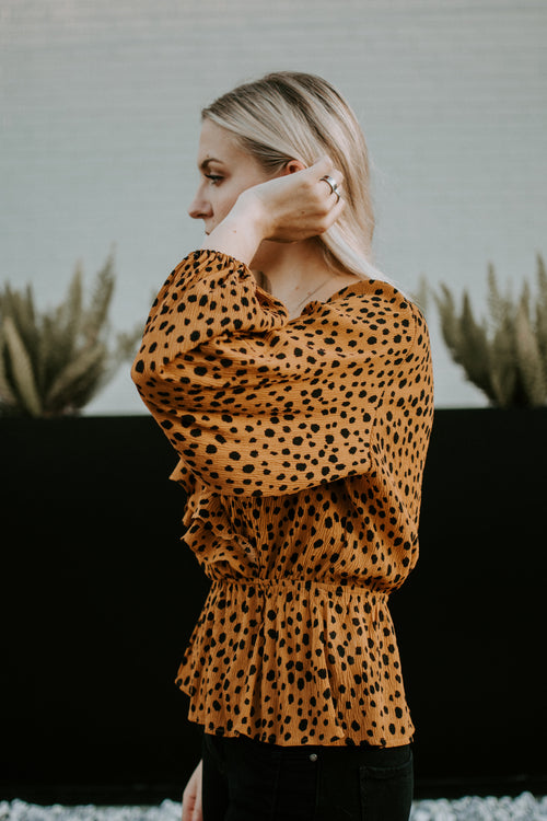 Hear Me Roar Long Sleeve Blouse - Parkside Harbor