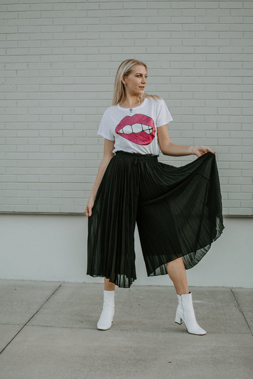 Raise A Glass Pleated Midi Pant - Parkside Harbor