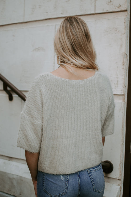 Not So Average Short Sleeve Sweater - Parkside Harbor