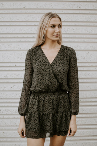 Apple Of My Eye Long Sleeve Dress