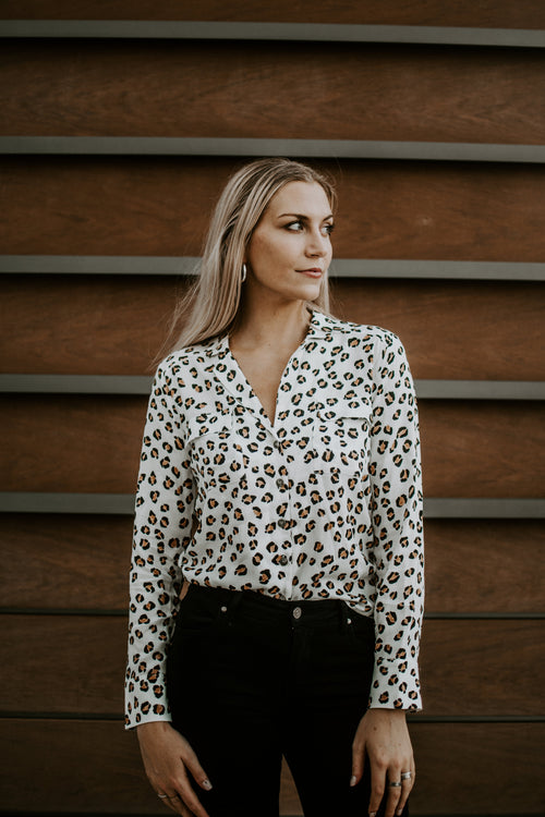 Have No Fear Cheetah Button Up Blouse - Parkside Harbor