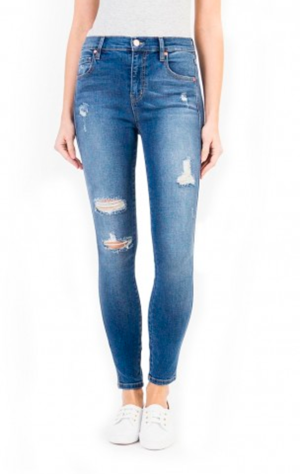 Level 99 Jane Distressed Skinny Jean - Parkside Harbor