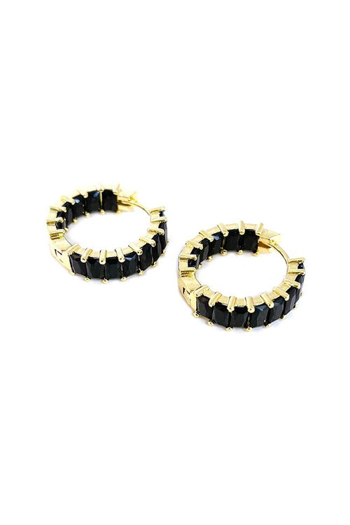 Nyla Black Hoop Earring