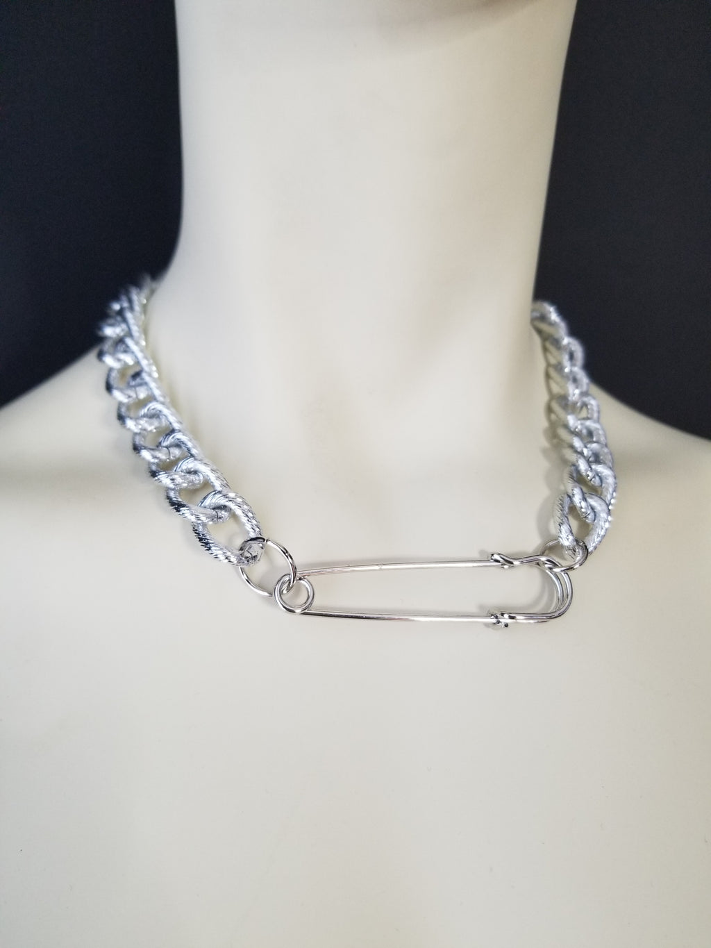 SAFETY-PIN NECKLACE