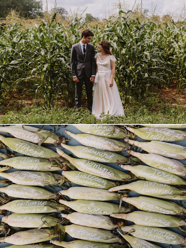 Ann Arbor Michigan Wedding Ears of Corn and Cornfield Cornman Farms