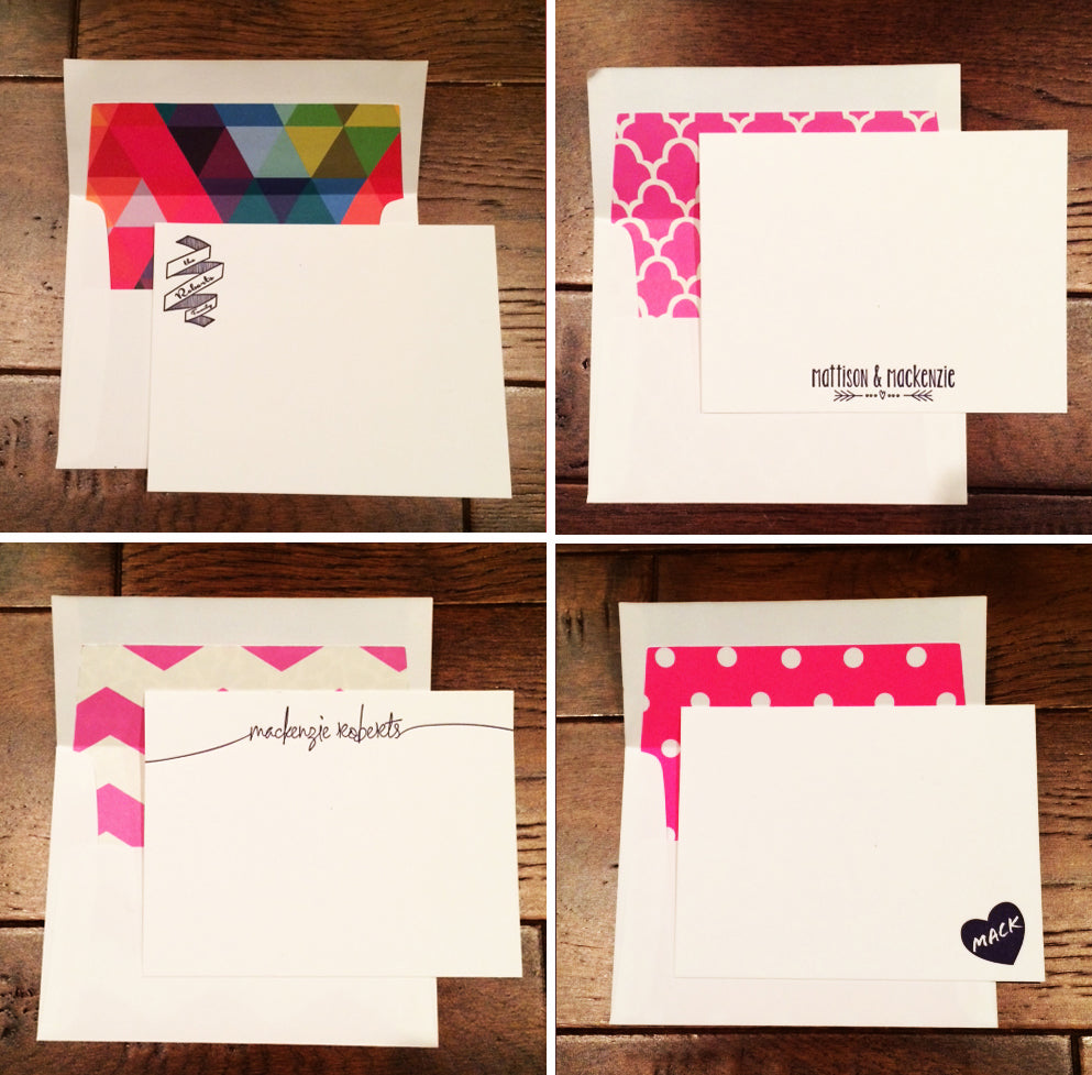 Custom Letterpress Stationery and Envelope Liners from Haute Papier