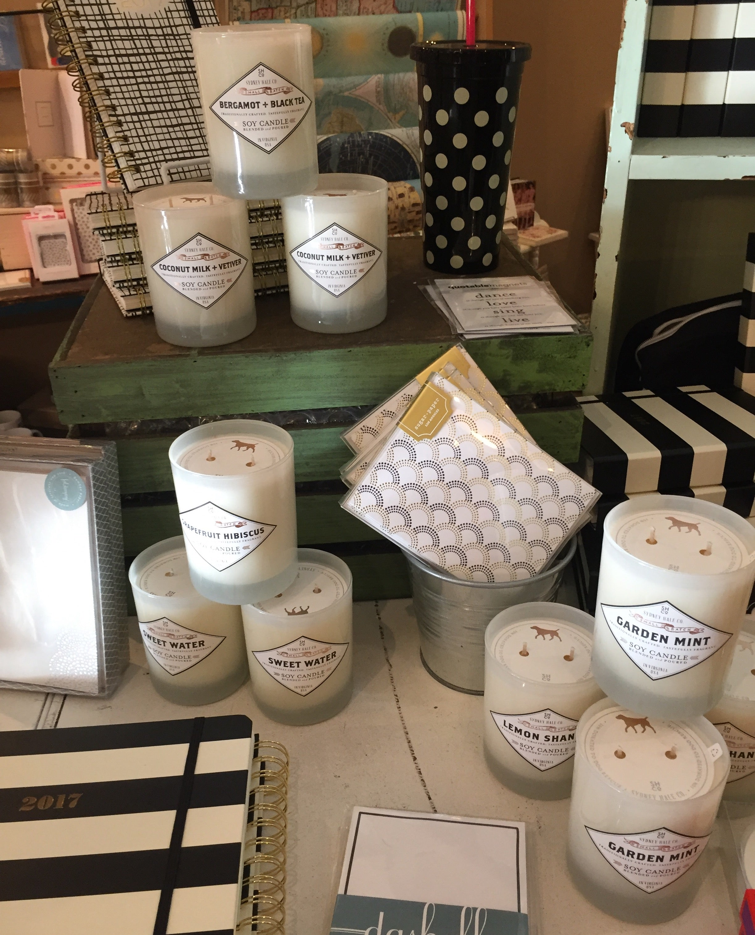 These Sydney Hale Co. candles are a staff favorite! They smell amazing and the company donates 10% of sales to dog rescue. Perfect for the dog lover in your life!