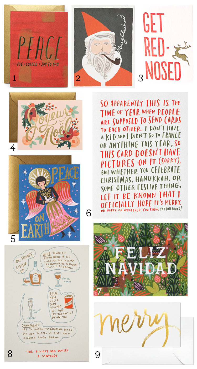 Our Favorite Holiday Cards Round Up Rock Paper Scissors Ann Arbor Michigan