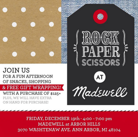 Rock Paper Scissors Madewell Gift Wrapping Ann Arbor Michigan