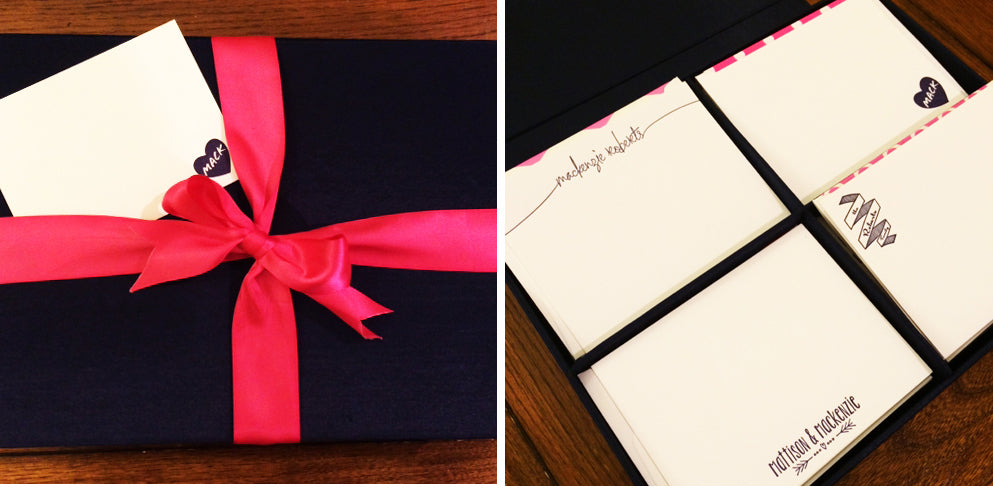 Silk Grand Stationery Box and Custom Letterpress