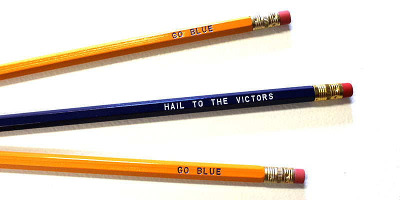 hail to the victors - go blue pencils - Rock Paper Scissors reduced