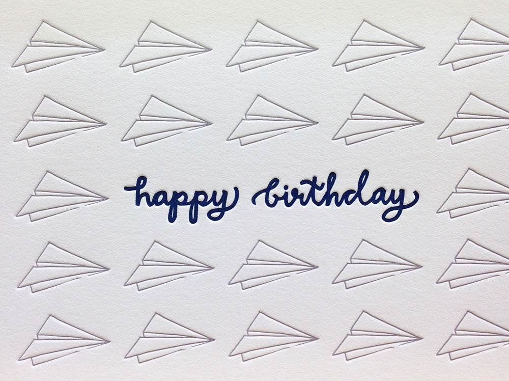 happy birthday airplane card