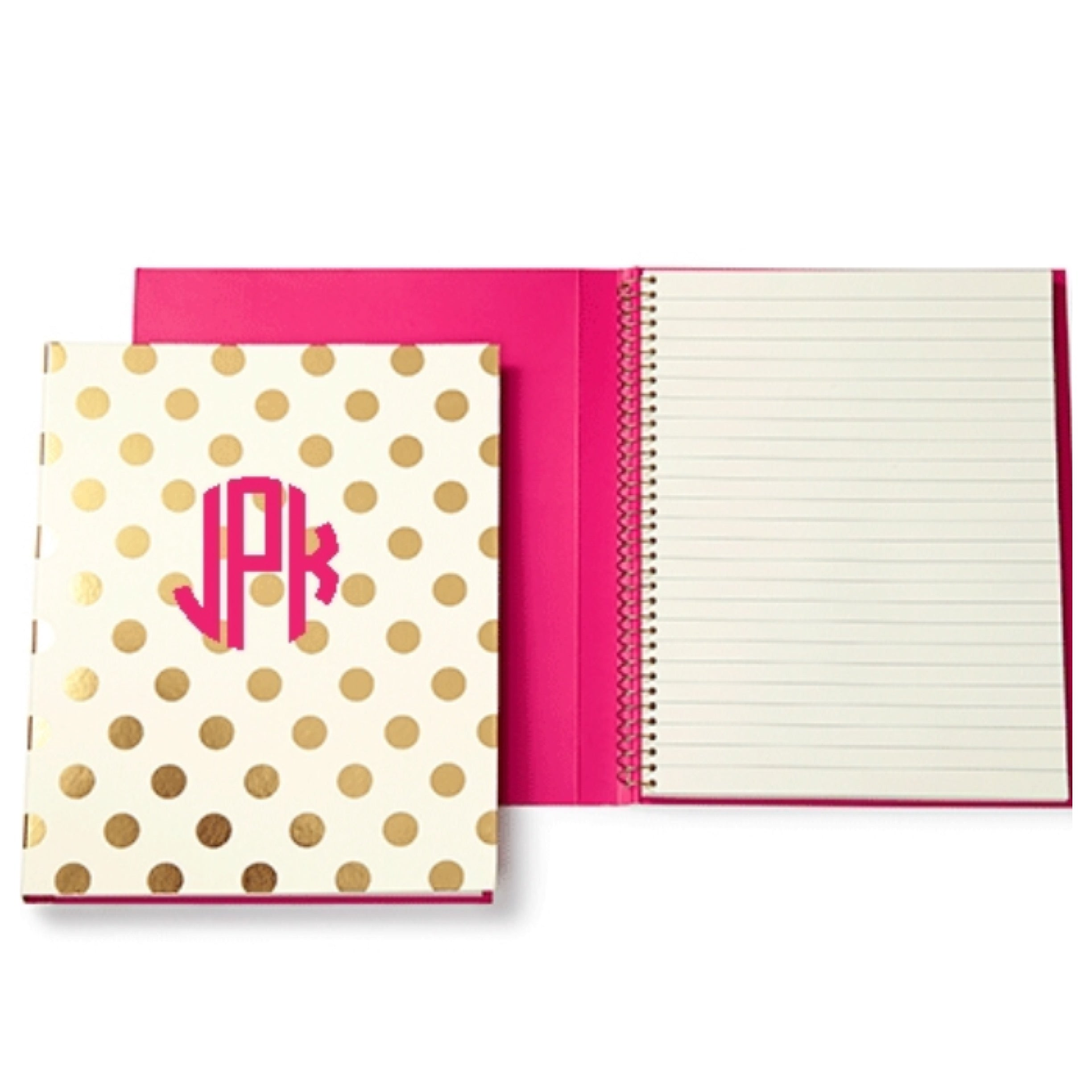 Don't get your notebook or planner mixed up with anyone else's by adding an initial or monogram