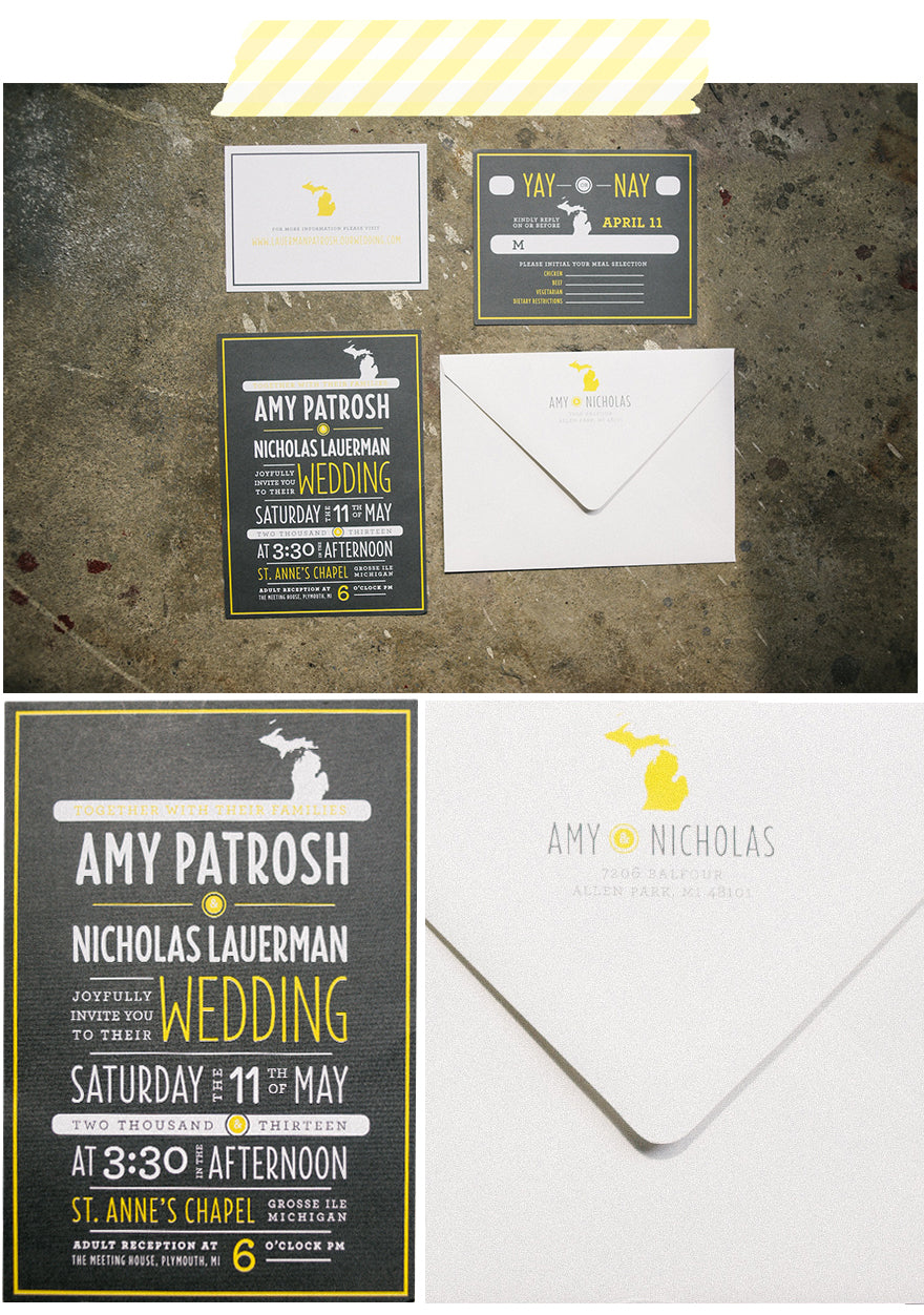 Michigan Wedding Invitations