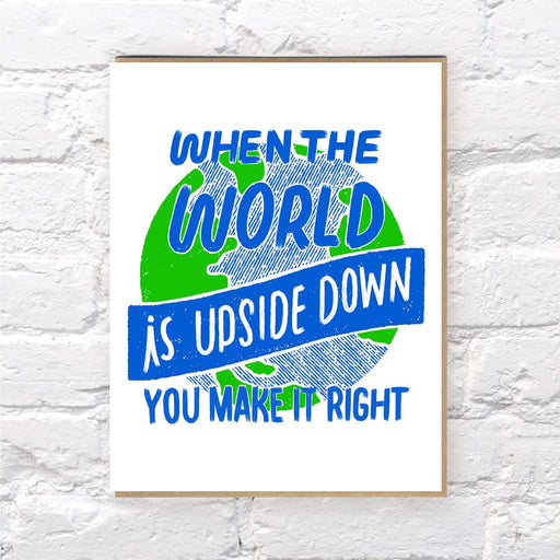 Upside Down card