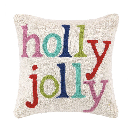 Holly Jolly Multi Color Christmas Hook Pillow